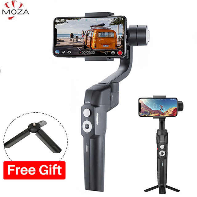 Moza Mini-S складной 3-Axis смартфона Gimbal ручной Vlog стабилизатор для iPhone X GoPro huawei VS Moza Mini-Mi Zhiyun Smooth 4