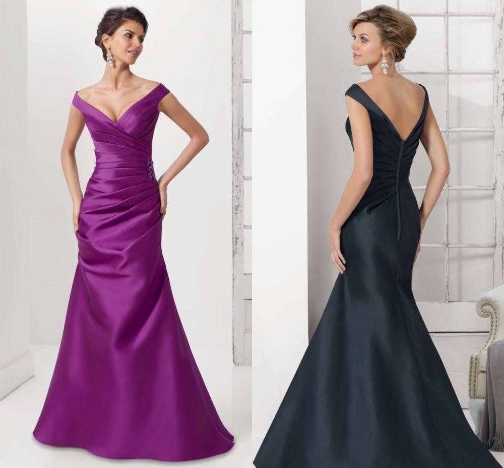 Off the Shoulder Plus Size Mother of Bride Dress