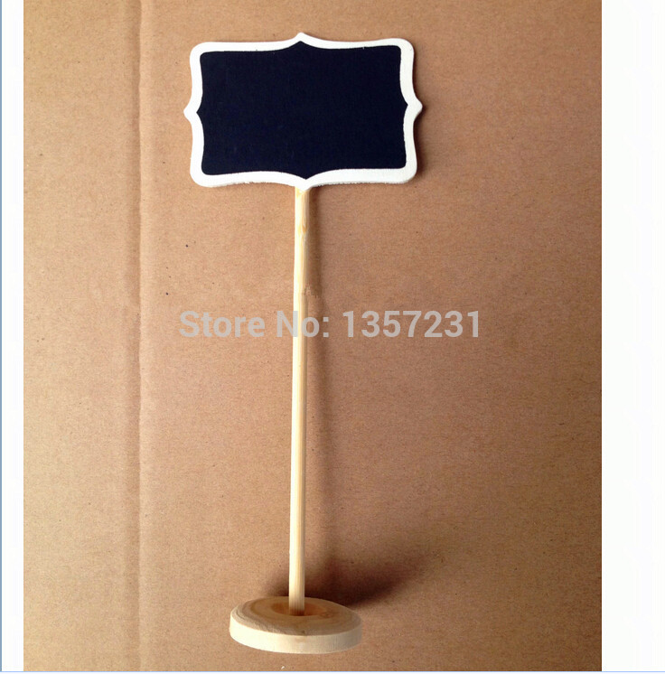 2000pcslot white framed scroll mini wood blackboard chalkboard stand wedding decoration table number place