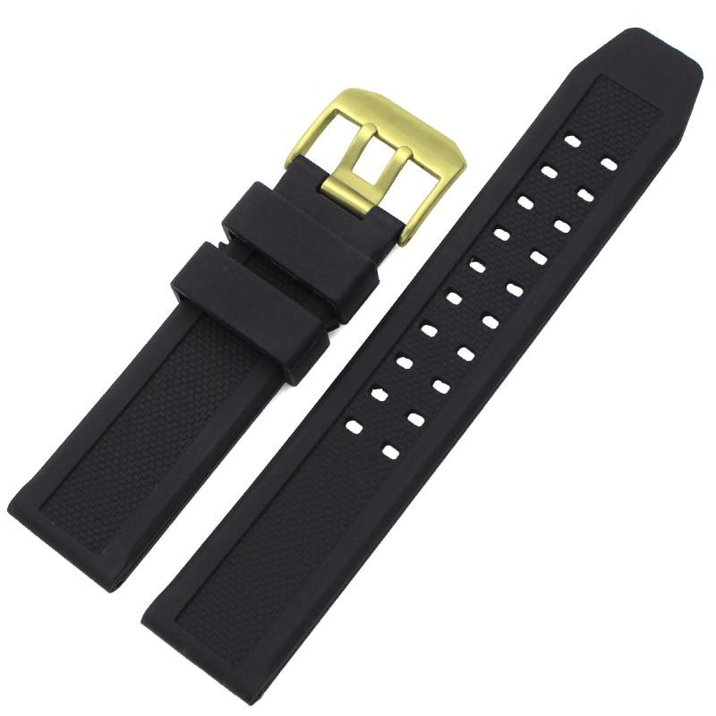 Меки каучукови ленти за мъже Черно 23 - Аксесоари за часовници - Снимка 3