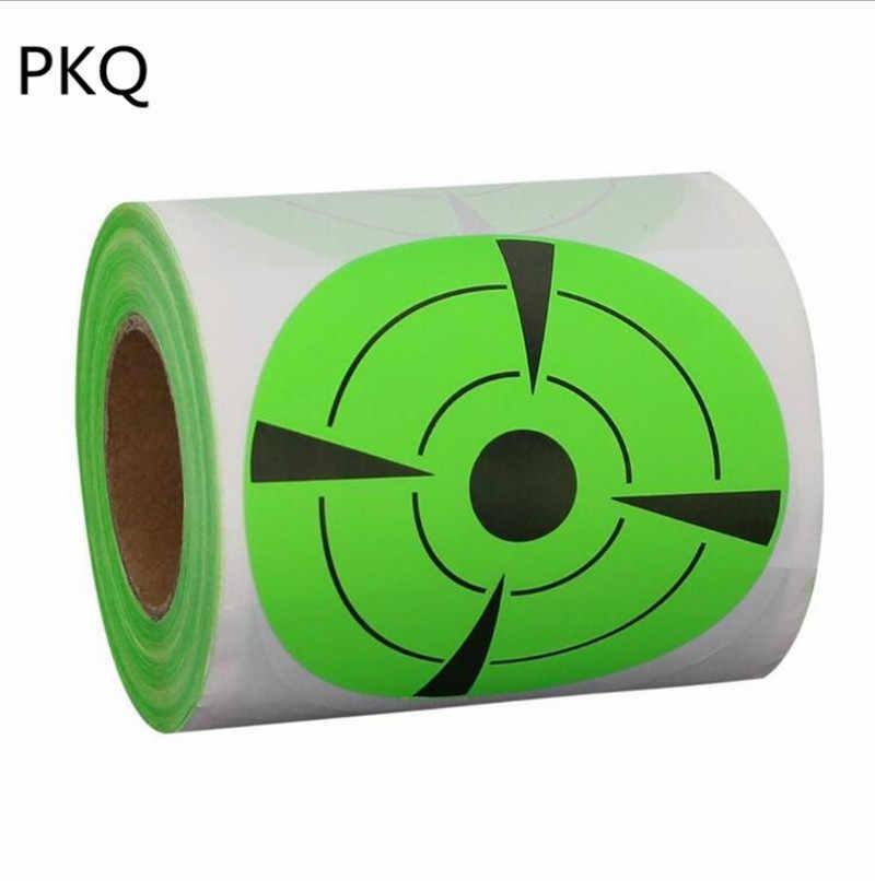 125 قطعة/لفة الأخضر لاصق الرماية ملصقا Dia7.5 cm رش الرماية ملصقات مجموعة للخارجية وداخلية الرياضة