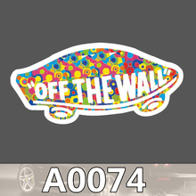 A0074 van off wall sticker logo sign colorful waterproof suitcase laptop guitar luggage skateboard bicycle toy pvc stickers