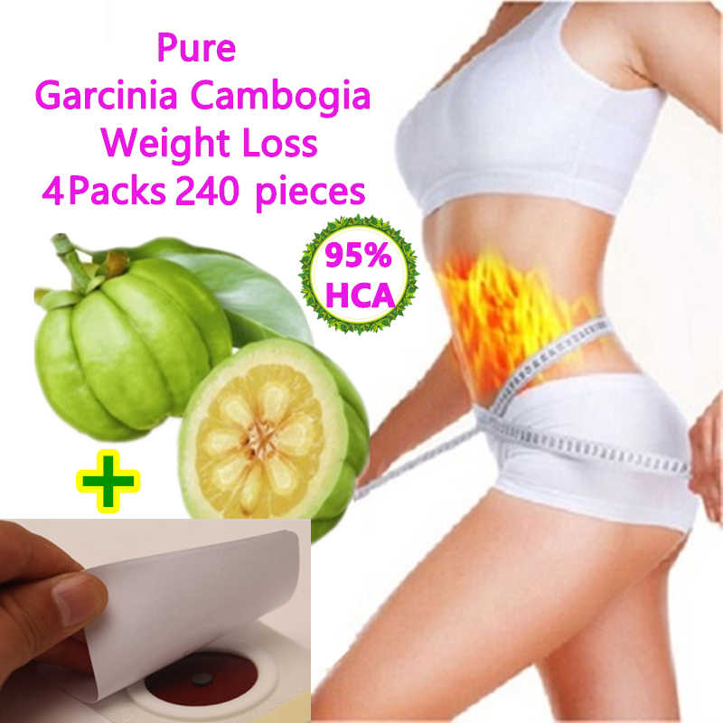 4 Packs 240 Tablets Pure garcinia cambogia nutrition diet patch weight loss pad 95% HCA 100% effective for slimming