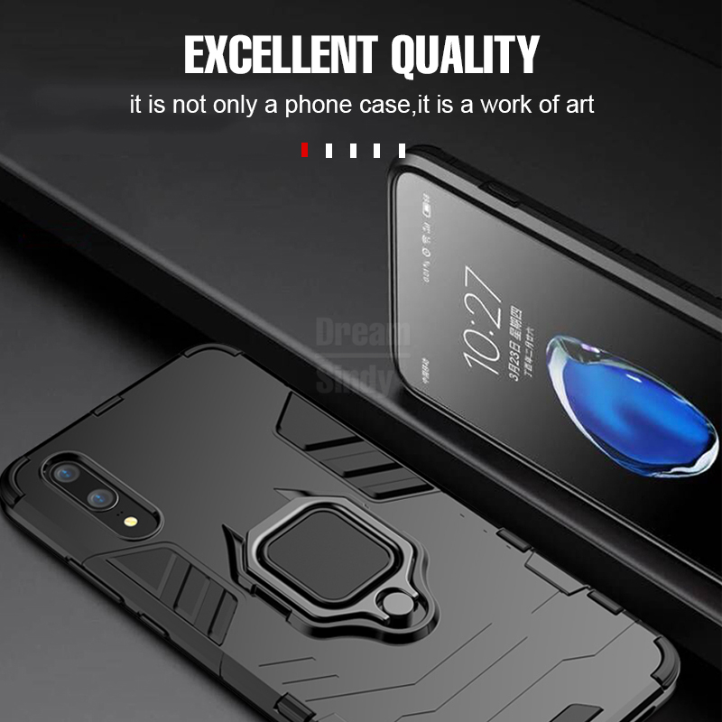 Image 3 - For Huawei P30 P20 Mate 20 Pro Lite 9 10 Nova 3 3i 4 Luxury Armor Finger Ring Case For P Smart Y6 Y7 Y9 2019 Phone Cover Case-in Fitted Cases from Cellphones & Telecommunications