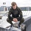 2017 Moda Apertado Unindo Camuflagem Hoodies Homens Marca Zipper 2 Cores