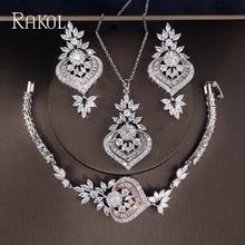 8286a92b78ac RAKOL exclusiva Dubai blanco de joyería de Color de lujo Zirconia cúbica