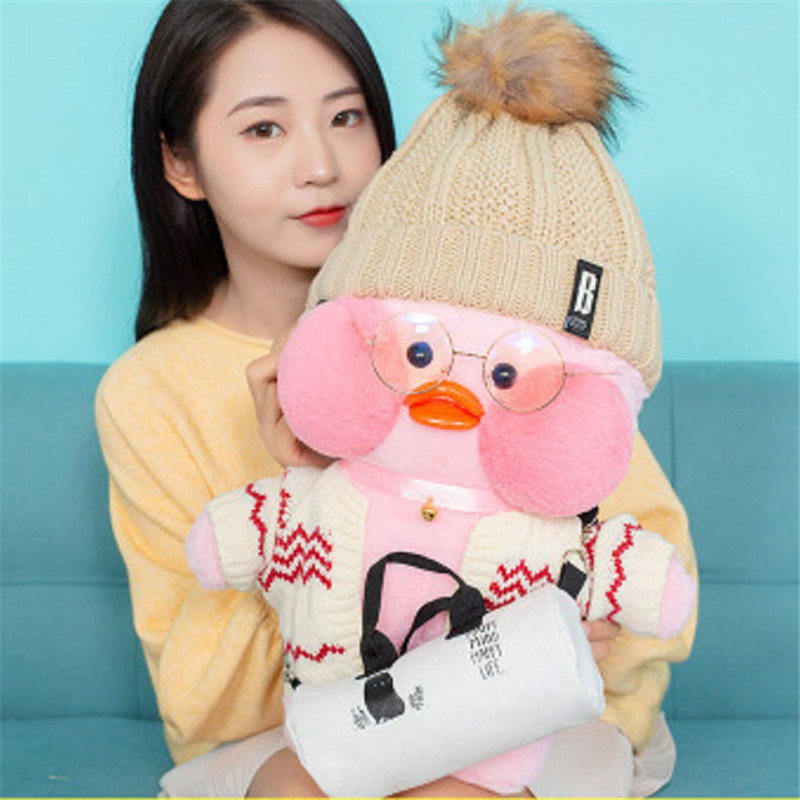 2018 Lalafanfan Cafe Mimi Yellow Duck Costume Plush Toy Stuffed Doll Christmas