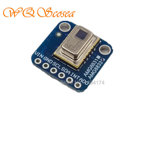 US $32 89 |WQScosea Q8S 308 I2C AMG8833 8x8 Thermal Camera IR Infrared  Temperature Array Thermal Imaging Sensor For Arduino Raspberry Pi-in Demo  Board