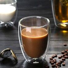 Двойная Стенка Insluated стеклянная чашка питьевой Чай Кофе Латте сок товары для дома, кухни FPing