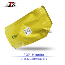 1 KG สีดำผงหมึก Konica Minolta DI 162 210 211 183 163 7516 ใช้งานร่วมกับเครื่องถ่ายเอกสาร DI162 DI210 DI211 DI183 DI163 DI7516