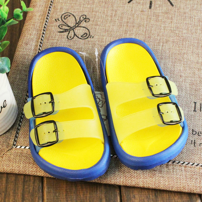 Childrens Cool Slippers Kids Bathroom Toddler Cute Cartoon Unisex Home Shoes Confectionery Color Baby Girls Boys Beach Shoes