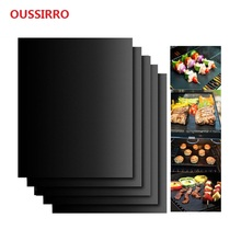 2PC 100% Non-stick BBQ Grill Baking Mats FDA-Approved Reusable and Easy to Clean Works on Gas Charcoal Electric Grill and More