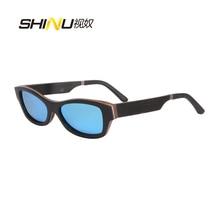 De alta Calidad de Ébano + Aluminio + Madera De Peral Gafas Hombres de Las Mujeres de Revestimiento de Espejo Polarizado gafas de Sol Gafas De Sol Mujer 6111
