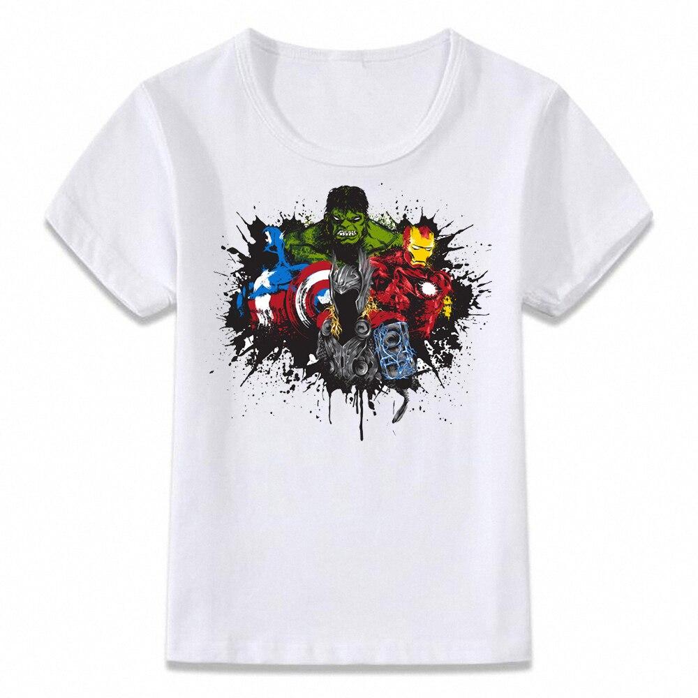 Kids Clothes T Shirt Avengers Art T-shirt For Boys And Girls Toddler Shirts Tee Oal205