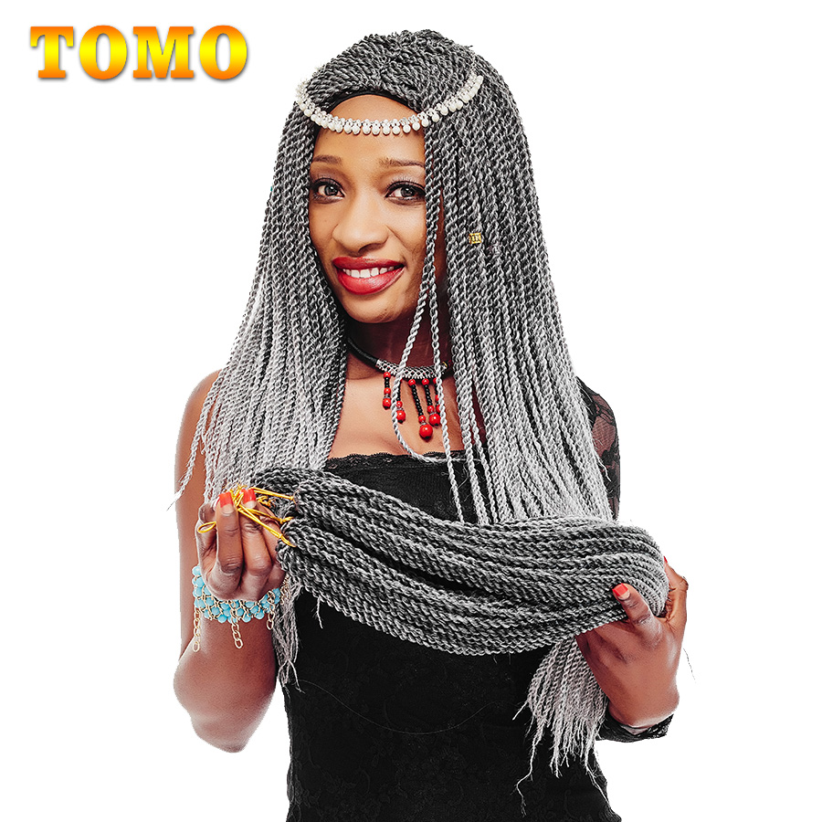 TOMO 14 16 18 20 22Inch 30Roots/Pack Crotchet Braids 16 Colors Synthetic Senegalese Twist Braiding Hair Crochet Hair Extensions(China)