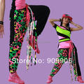 New Arrival Fashion HipHop Women's Jazz Casual Harem Tassel Baggy Dance SweatPants Trousers
