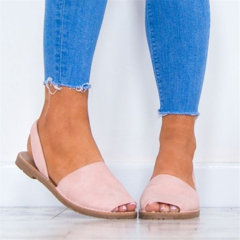 Women Sandals Fashion Peep Toe Summer Shoes Woman Faux Suede Flat Sandals Plus Size 43 Casual Shoes Woman Sandals Zapatos MujerWomen Sandals Fashion Peep Toe Summer Shoes Woman Faux Suede Flat Sandals Plus Size 43 Casual Shoes Woman Sandals Zapatos Mujer