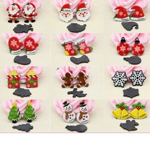 10PCS Mixed Resin Christmas Charm For Rubber Band Hair Pin Refrigerator Stick Decoration DIY Jewelry Making