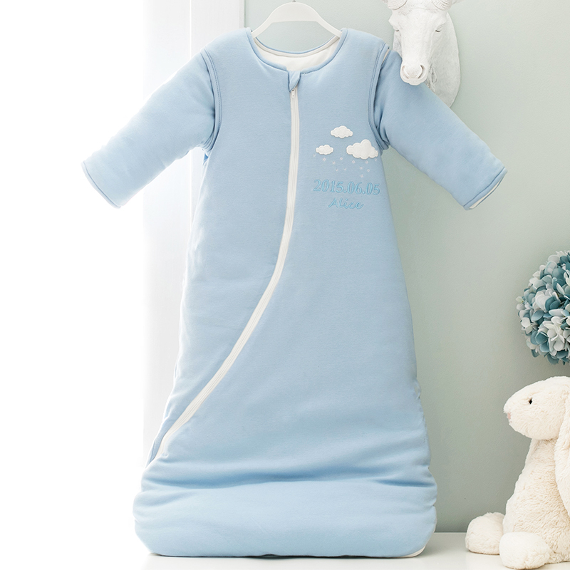 Baby sleeping bag in autumn and winter, baby anti kicking by pure cotton spring and autumn children's sleeping bag new baby sleeping bag soft cotton autumn child sleep suit u collar baby sleepsacks dogs clothes autumn winter