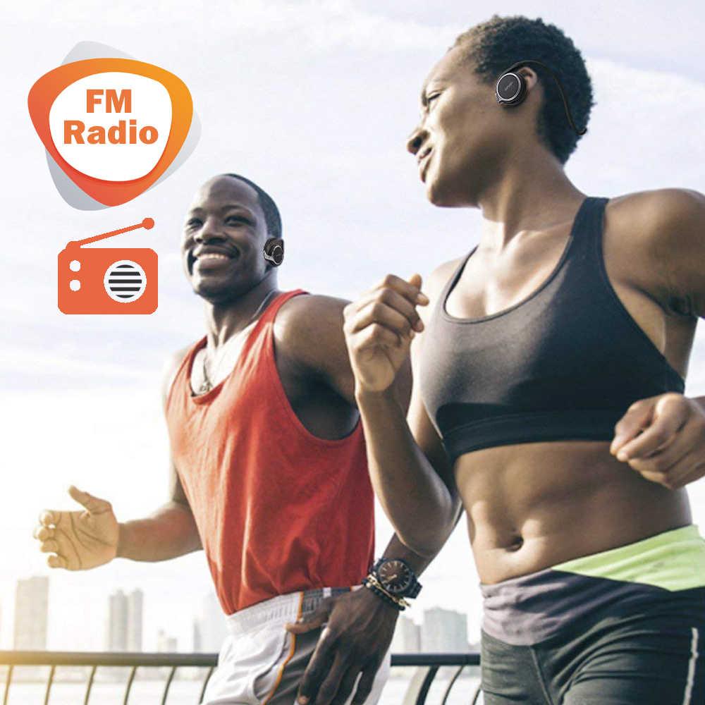 RALYIN ワイヤレス Mp3 音楽プレーヤーヘッドホンサポートメモリカード FM ラジオスポーツ快適な bluetooth イヤホンワイヤレスヘッドセット