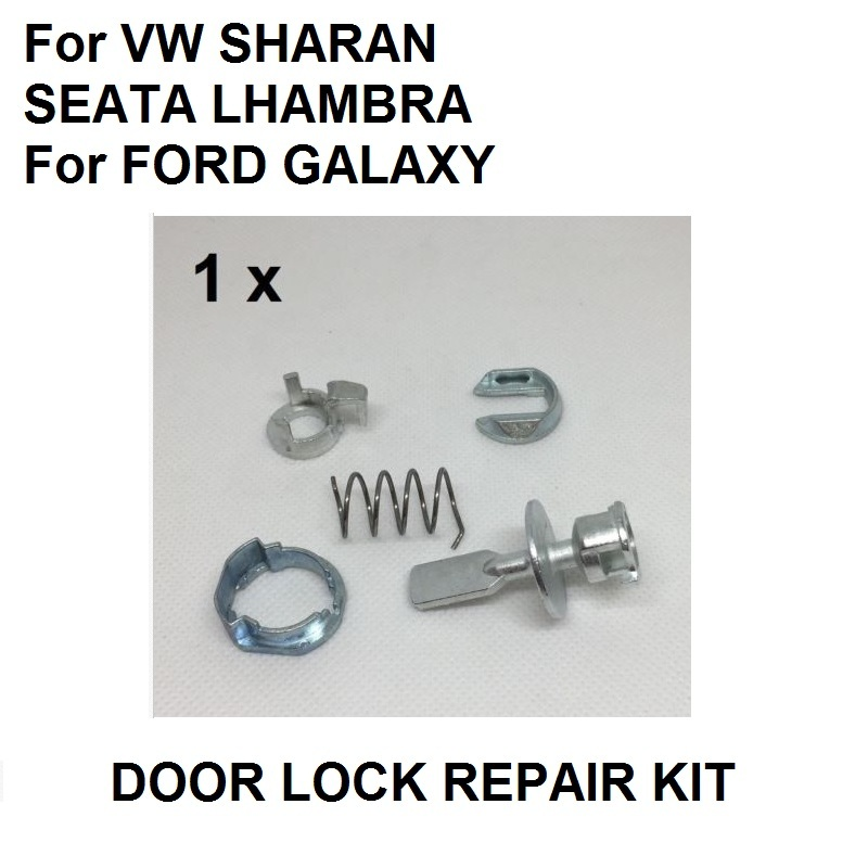 Door <font><b>Lock</b></font> Cylinder Repair Kit For VW <font><b>SHARAN</b></font> SEAT ALHAMBRA For FORD GALAXY FRONT LEFT RIGHT OE# 6K0837223A image