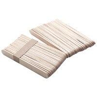 100pcs Lot Wooden Waxing Wax Spatula Tongue Depressor Disposable Bamboo Sticks Tattoo Wax Medical Stick Beauty