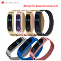 Magnetic Milanese Loop Replacement Strap For Xiaomi Miband 2 smart bracelet+Stainless Steel Metal Frame for Xiaomi Mi Band 2Belt