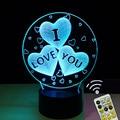 3D Balloons Heart Shape LED Night Light I Love You Romantic Atmosphere Lamp Home Decor Gadget Nightlight Lovers Gift