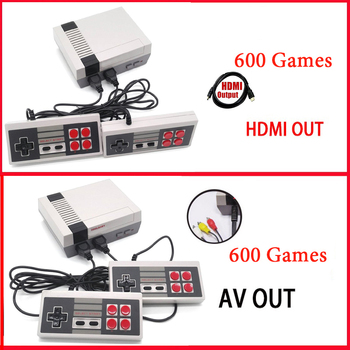 Retro Family HD Video Classic Handheld Game Player Built-in 600 Games Dual Gamepad Controls HDMI Output Mini TV Game Console