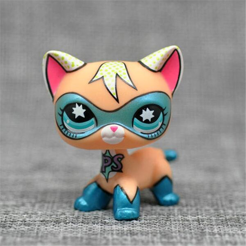 Lps pet shop toys cute short hair cat #2118 816 rare anime figure little white brown Dog Collie GREAT DANE free shipping pet shop toys great dane 2598 green eyes pink dog dane child loose cute puppy