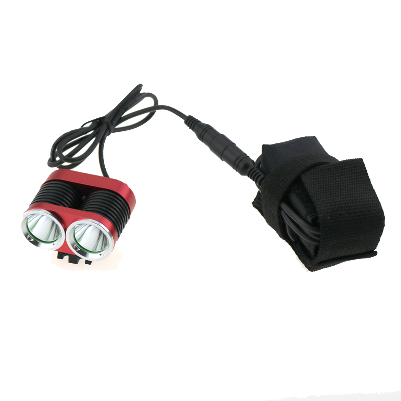 Mountain Bicycle bicicleta Light 2400 Lumen 2x CREE XM-L T6 LED Bike Cycling Headlamp + 18650 Battery Pack + Helmet Mount 24000 lumen cycling helmet bike light 14x cree xm l t6 led bicycle headlight headlamp 18650 10000mah battery pack charger