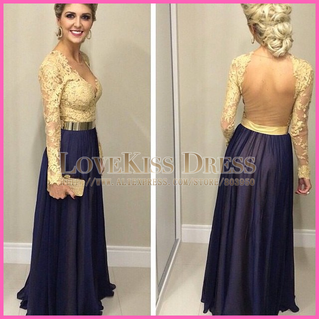 Compare Prices on Navy Blue and Gold Gown- Online Shopping/Buy Low ...