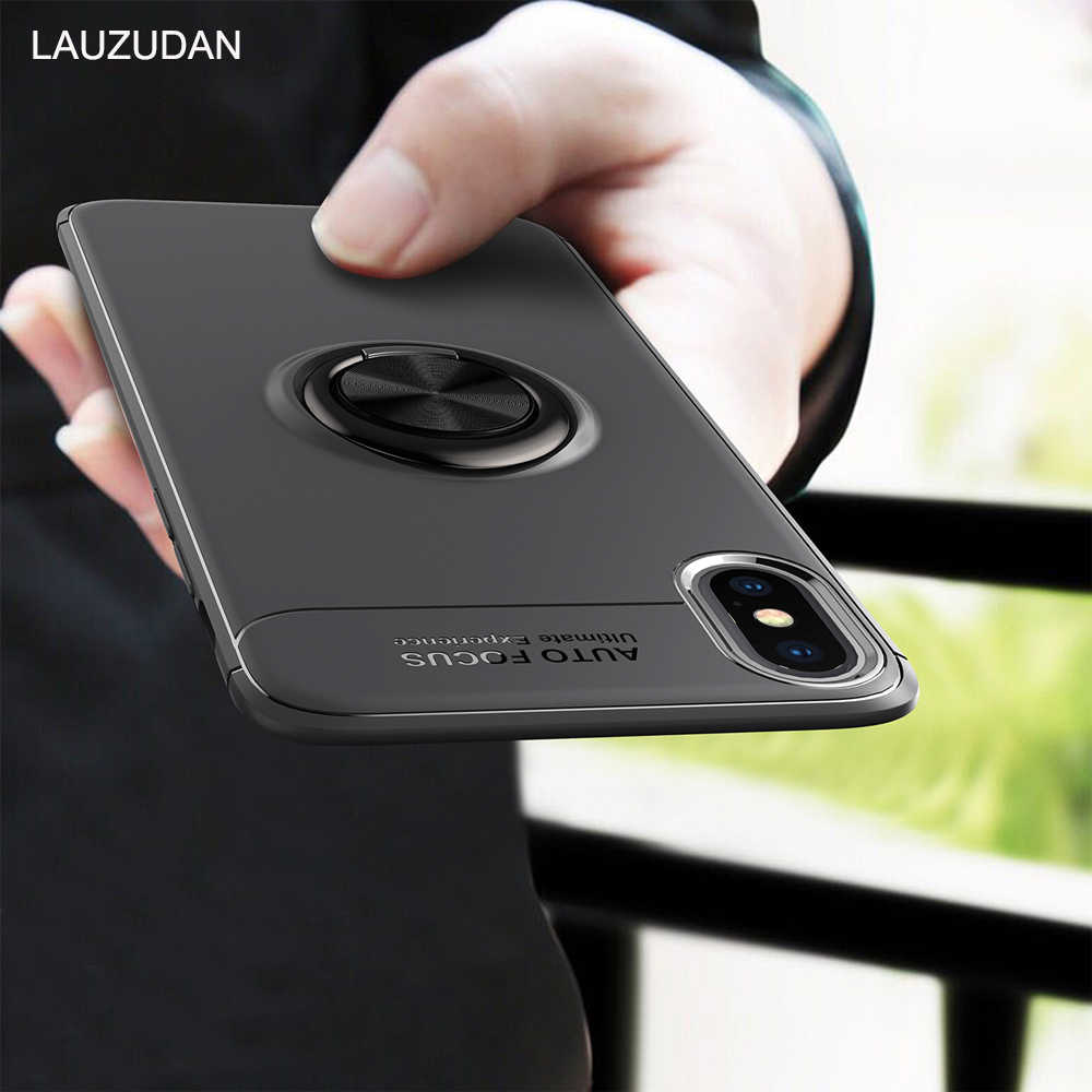 Luxury Shockproof Phone Case For iPhone X XR XS Max Case Magnetic Ring Stand Car Phone Holder For iPhone 5 SE 6 6S 7 8 Plus Case