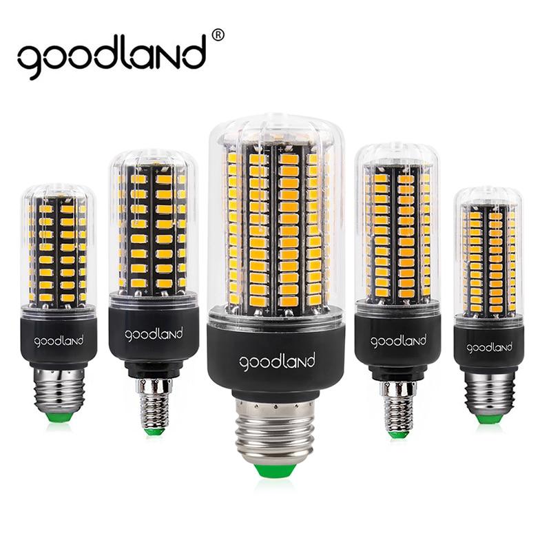 Goodland E27 LED Lamp Smart IC SMD5736 E14 LED Bulb AC 85V-265V 3.5W 5W 7W 9W 12W 15W Corn Light No Flicker Chandelier Light