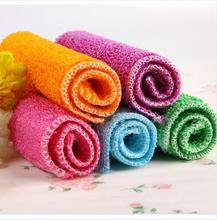 Kitchen Accessories High Efficient Anti-grease Color Dish Cloth Bamboo Fiber Washing Towel Magic Kitchen Cleaning Wiping Rags