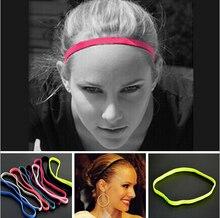Miễn phí vận chuyển 20 cái Phụ Nữ Người Đàn Ông dải tóc cô gái Chống trượt Cao Su Đàn Hồi Sweatband Chạy headband