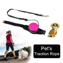 Hands Free Explosion-Proof Dog Lead Leash Retractable Pet Wrist Traction Rope Outdoors Adjustable L251