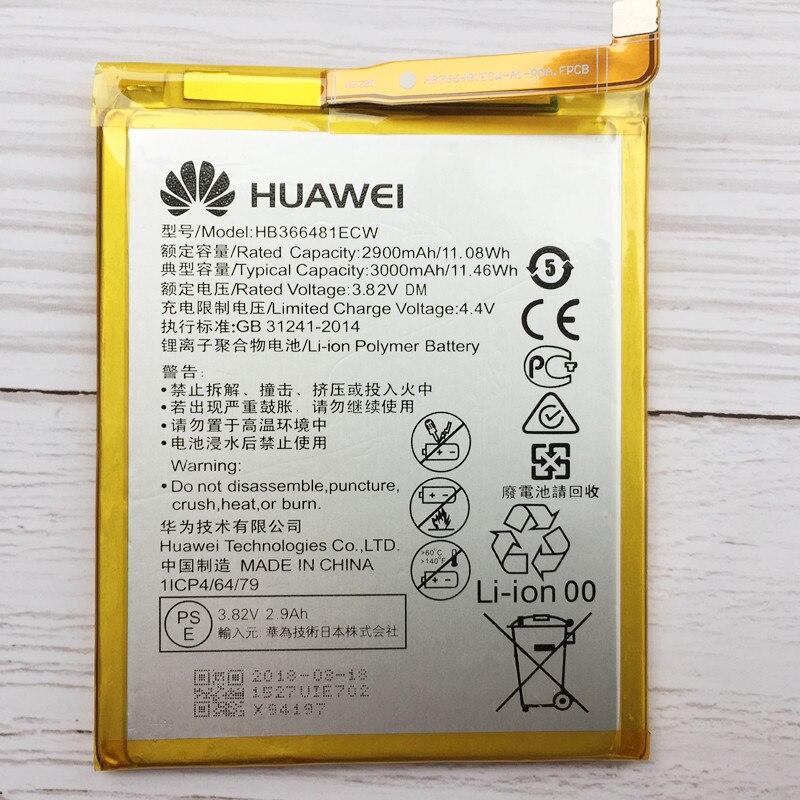 Original 3000 mAh HB366481ECW batería para Huawei P10 Lite Nova Lite Honor 6C Pro V9 jugar recargable de Li-Ion de la batería del teléfono celular