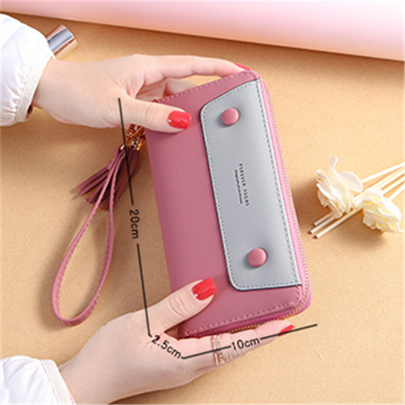 2019 New Women 39 s Wallet Long Clutch Bag Zipper Multi function Student Purse Large capacity Wallet Phone Bag Women Wallet in Wallets from Luggage amp Bags