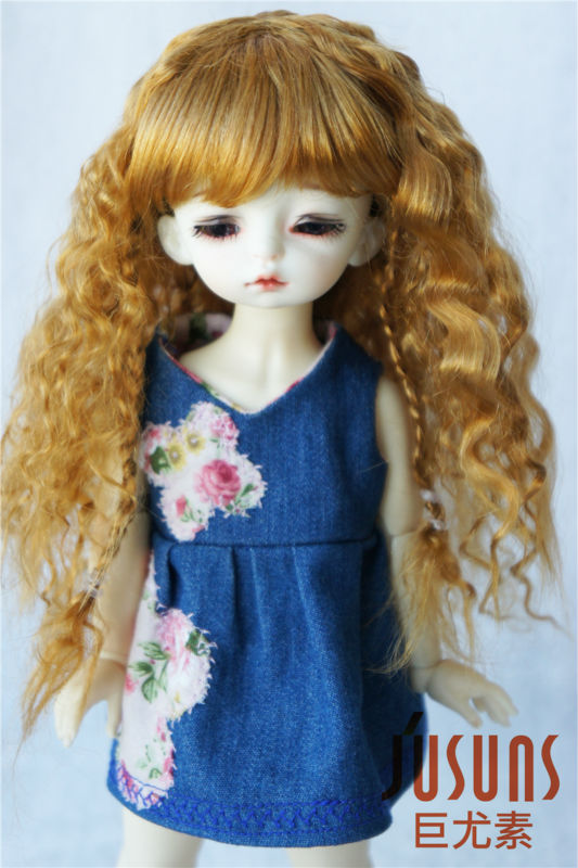 1/6 BJD  wigs  Middle Sauvage wig 6-7inch  Synthetic mohair  Doll wig YOSD doll accessories