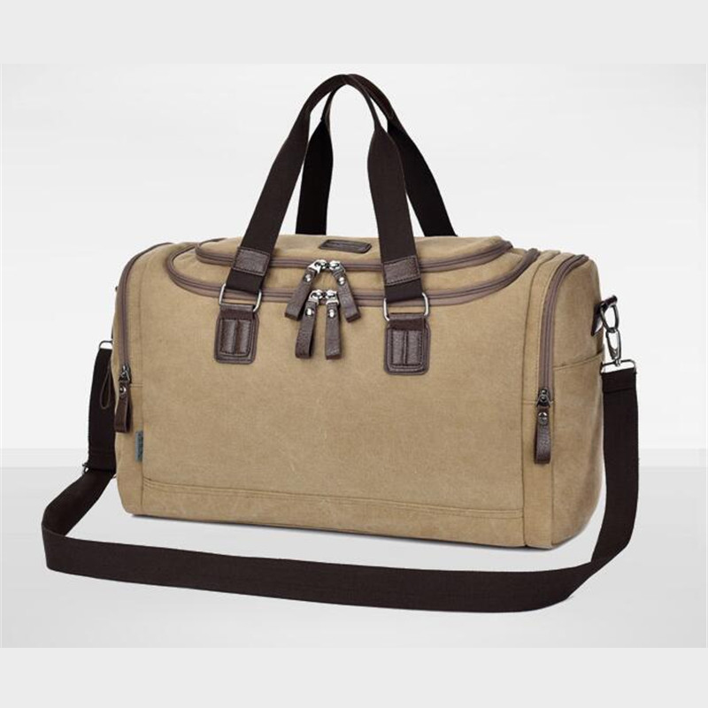 320840feb3e0 New High Capacity Fashionable Canvas Men Travel Bag Direct Selling Casual  Women Handle Bag Mountaineering Messenger Bag B061-in Travel Bags from  Luggage   ...
