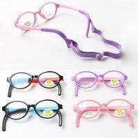 New Cute Kids TR90 Rubber Eyeglasses Frame High Quality Boys Girls Safe Reading Glasses Frames Optical