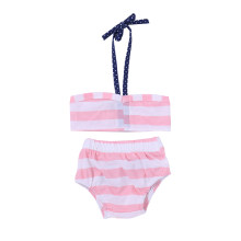aecfbbfca5b27 2018 Summer Baby Girls Swimwear Two Pieces Bikini Swimwear Swimsuits  Striped Top Shorts Toddler Girl Kids Swimwear Menina