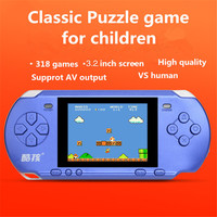 Handheld Game Console 3.2 inch Game Machine CoolBaby Built 318 Games Classic Game PSP Support AV Double Player + retail package