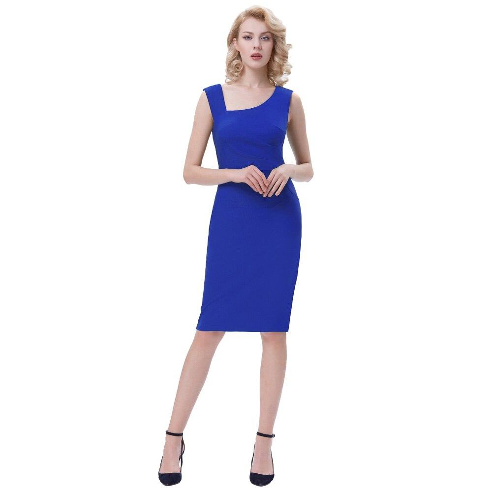 1497edd6b Mujeres elegante Oficina vestido de espalda desgaste para trabajar ol  bodycon vintage vestido sin ...