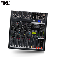 TKL 8 channel Digital Mixer Professional Audio Sound Mixing Reverb And Effects Bluetooth 2USB DJ Mixers