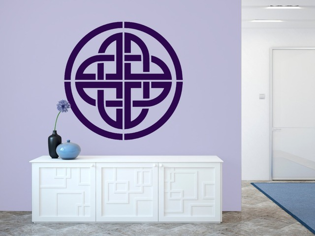 Celtic knot stencil wall decal special design vinyl home decor art mural removable reusable wall stickers