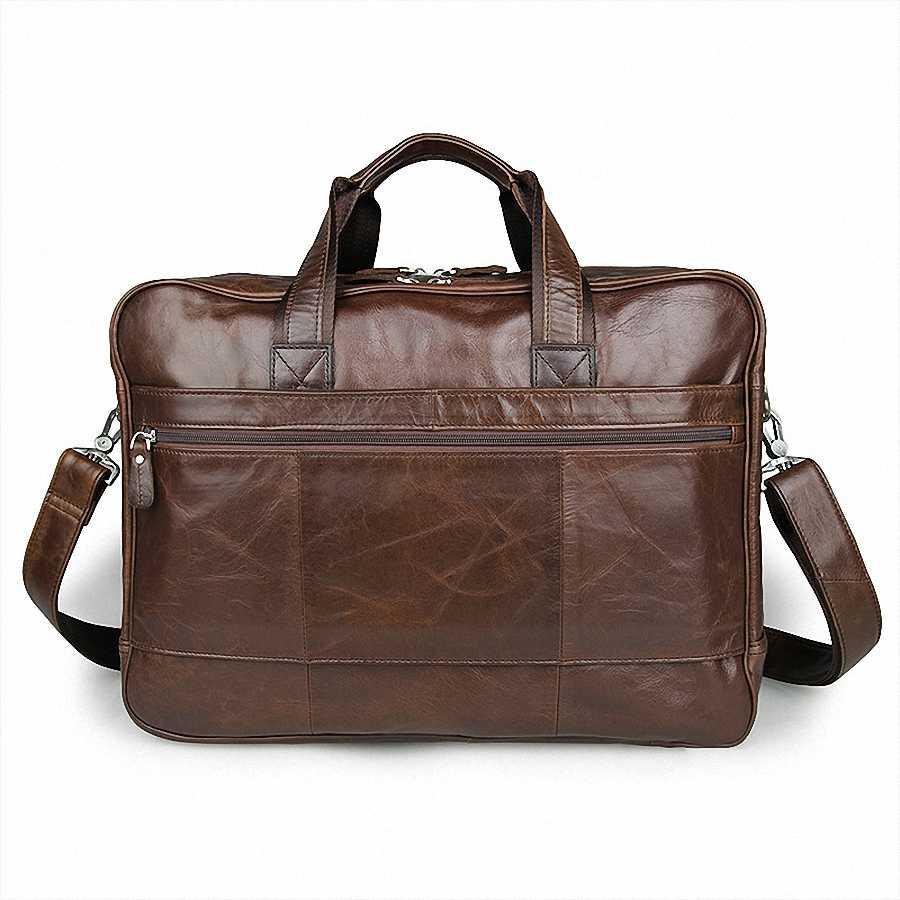 Мужской классический портфель из натуральной кожи, деловой офис, 17 дюймов, сумка для ноутбука, ручной портфель, сумка на плечо, LI-1266