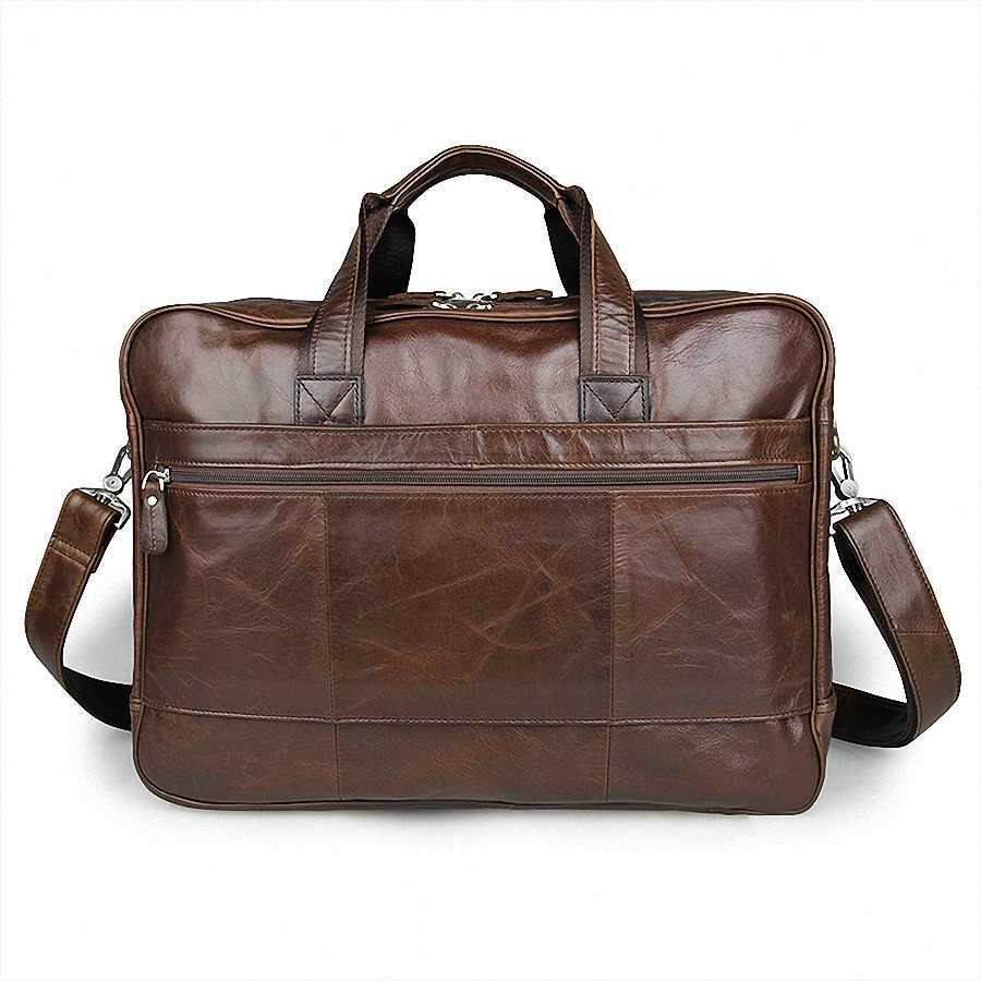 45f43a574 ... Men's Classic Briefcase Genuine Leather Business Office 17 Inch Laptop  Bag Lawyer Handbag Portfolio Satchel Shoulder ...