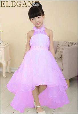 2016 Baby Flower Girl Fairy Party Bridesmaid Prom Tulle Gown Formal Dress